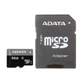 Micro SD 64GB A-Data Class 10 Premier UHS-I (40/15 Mb/s) + SD адаптер