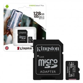 Micro SD 128GB Kingston Class 10 Canvas Select Plus A1 (100 Mb/s) + SD адаптер